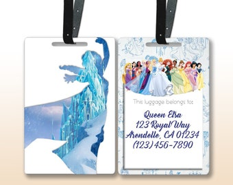 f25eec61db5 Disney Princess Personalized Luggage Tags w  Leather Straps inspired by  Star Tours (Choose from 13 different princesses)