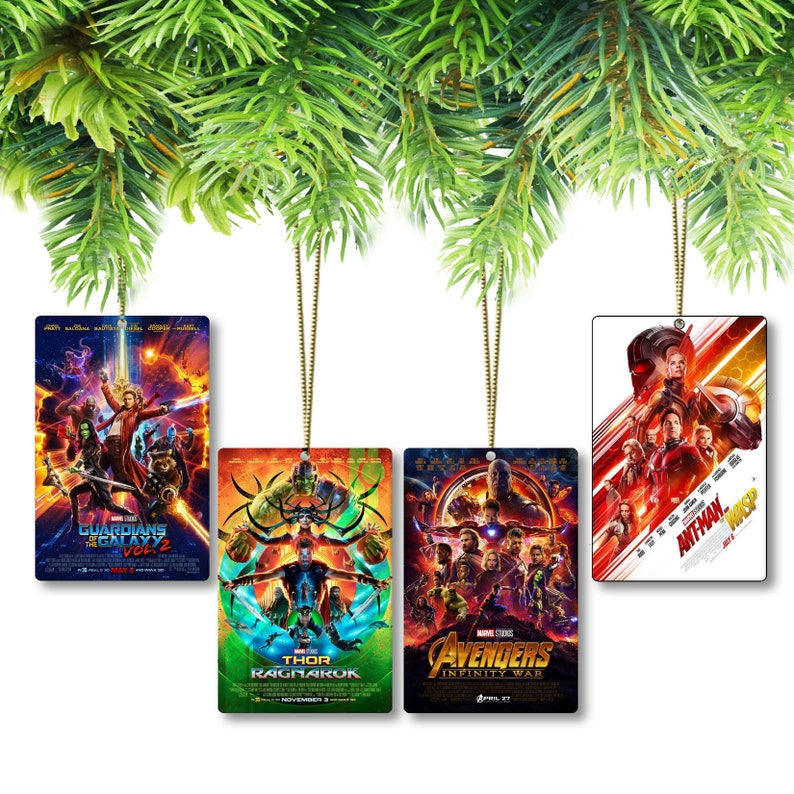 Marvel Cinematic Universe Movie Poster Ornaments-(Pick & Choose from all 22  movie posters)