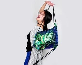 Mermaid Shape Turquoise Gym Bag - hannisch