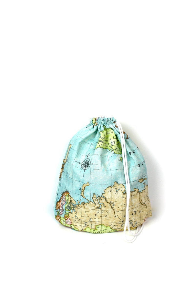 World Map Gym Bag  hannisch image 0