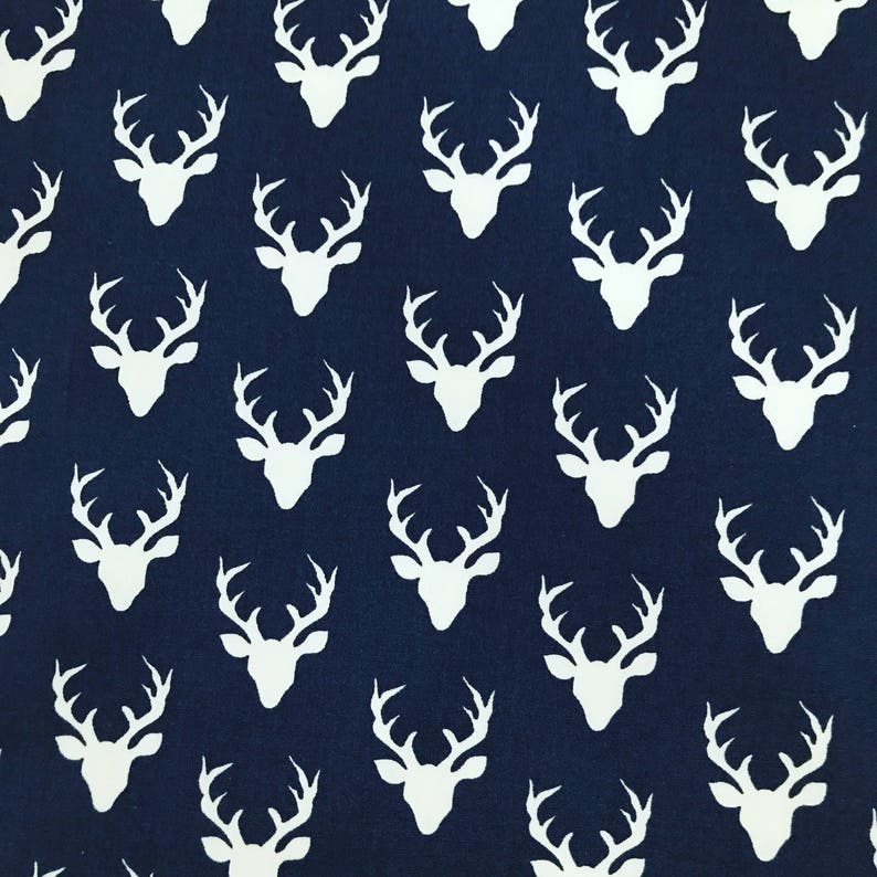 Home Living Fitted Sheets Navy Blue, Blue Deer Head Baby Bedding