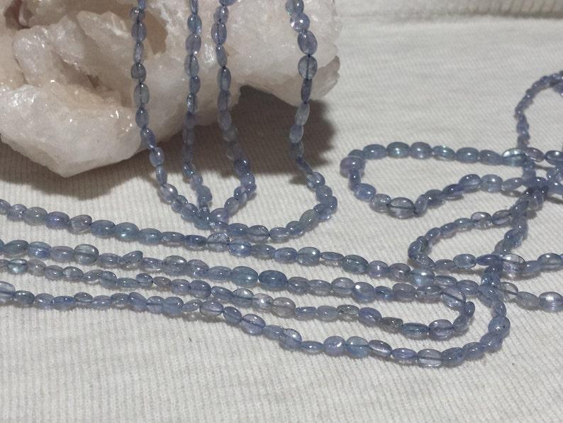 Tanzanite Graduating Smooth Oval Gemstone Beads 21 In Smooth Oval Nugget Beads Natural Tanzanite Beads, Strand