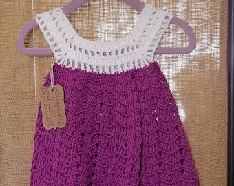 Purple Crocheted Dress