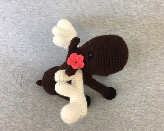 Stuffed animal moose toy - crochet Mandy  the moose - handmade moose - moose lovers - gifts for girls - nursery decor - Yarn at Heart
