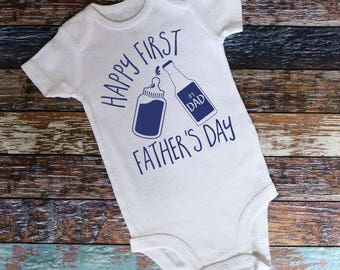 3940ac6d First Father's Day Onesie, Father's Day, Onesie, Happy Father's Day, Father's  Day gift, Father Onesie, Dad Onesie, Father's Day Bodysuit