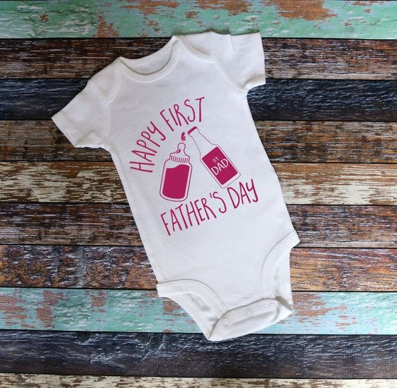 2bd62f849 First Father's Day Onesie Father's Day Onesie Happy   Etsy