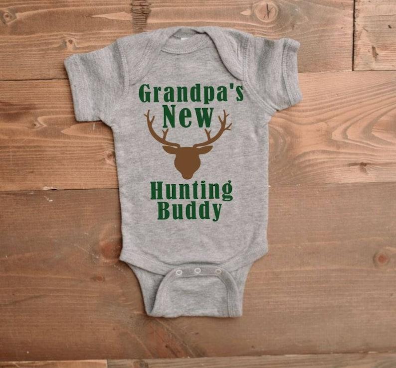 Baby Announcement I love Grandpa I love grandpa onesie Grandpa Onesie Grandpa/'s New Hunting Buddy Onesie New Grandpa ONESIE\u00ae ONESIE\u00ae