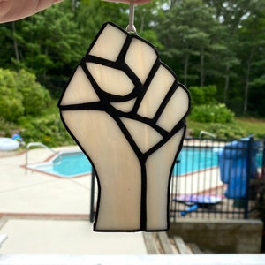 Stained Glass Resistance Resist Fist Limited Edition Color BlackBrownWhite Swirl