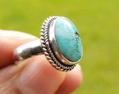 Boho Turquoise Ring, Silver Turquoise Ring, Turquoise Ring, 925 Silver Ring, Sterling Silver Ring, Gemstone Stone Ring, Bohemian Jewelry