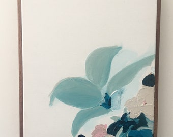 Botanical Series #18 Abstract - Original framed painting