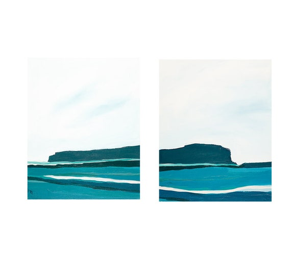 Diptych - West Side Seascape Diptych