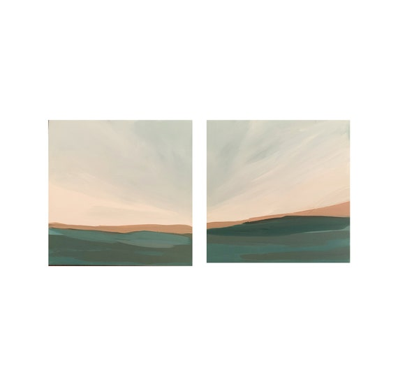 Diptych - Square Seascapes