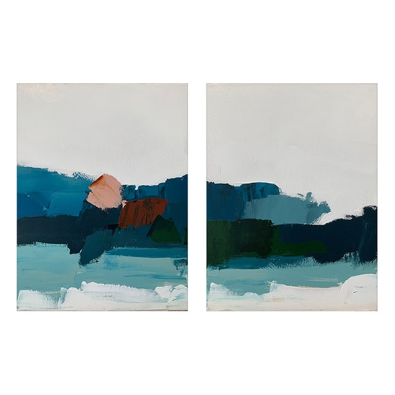 Diptych - Abstract Seascapes
