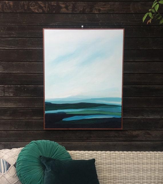 Abstract Original Painting - Santa Cruz Seascape