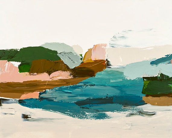 Original Abstract Painting - The Rivermouth