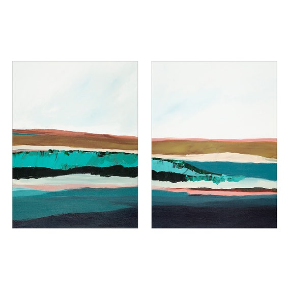 Diptych - Abstract Seascapes Hawaii