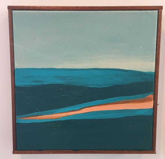 Original Framed Abstract Seascape Painting
