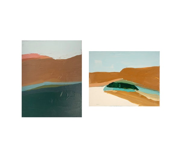 Diptych - Abstract Seascape