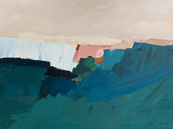 Original Abstract Painting The Swell - Landscape