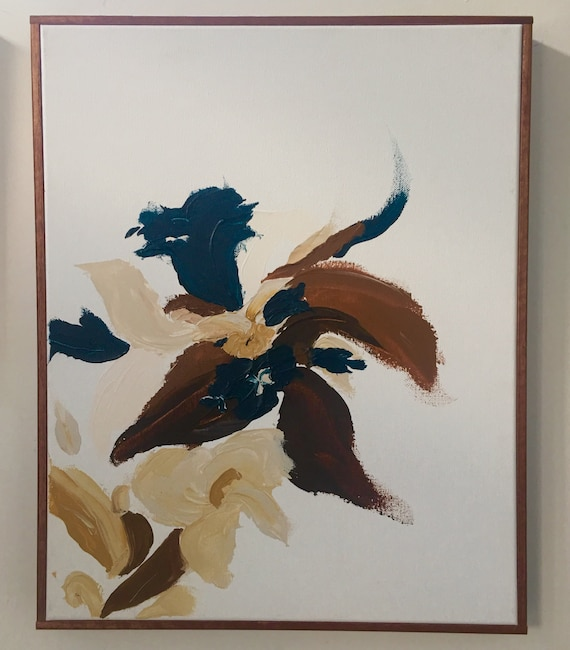 Abstract Botanical Series 1980- Original framed painting