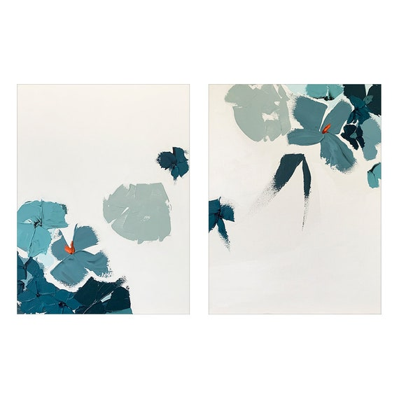 Diptych - Abstract Botanicals