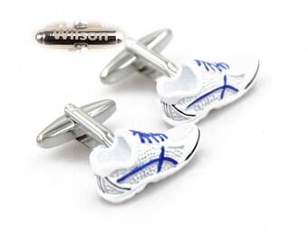 Retro Sneaker Cufflinks Old School Shoes Cuff Links Running Shoe Cuff Links S1347 Pair Lifetime Guarantee