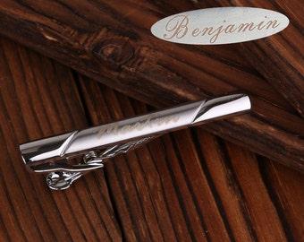 Custom name tie clip,Monogrammed Tie Bar,hero tie clip,Tie Clip Engraved,Monogrammed Tie Clip