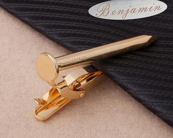personalized tie clips,nail tie clip,Vintage Tie Tack, Necktie Pin, Rail track Nail, Men's Wedding, Groom Best Man, Tie Accessory ,Man Gift