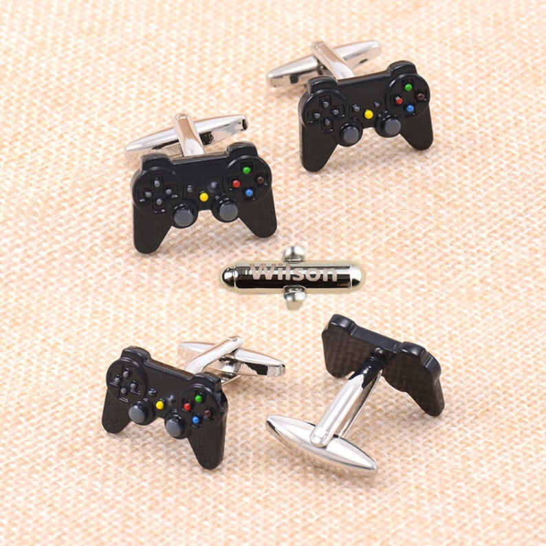 Gamepad Remote cufflinks Game Console gamer player play image 0