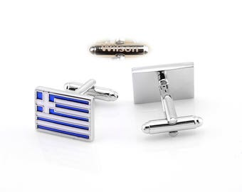 Striped cufflinks, white leader button, office cufflinks, engraved name gifts,personalized gifts,Christmas gift engravings,rainbow cufflinks