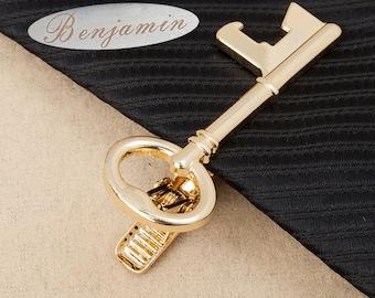 signature tie clip,engraved tie clip,Skeleton Key Tie Bar,locksmith  Tie Clip,Personalized Tie Clip ,Men's Wedding Accessories,Skinny Tie
