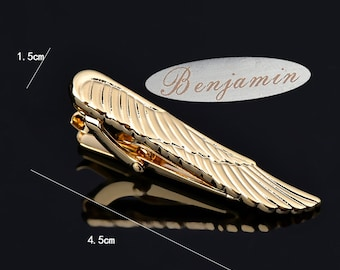 personalized tie clip,Wing Feather Tie Clip ,Feather Tie Clip,Angel Wing Tie Clip,Steampunk Tie Clip, Steampunk Jewelry, cosplay Costume