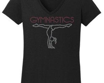 Gymnastics Rhinestone T-Shirt Made to order