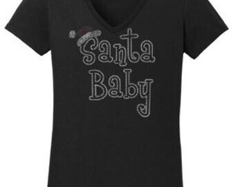 Santa Baby Rhinestone T-Shirt