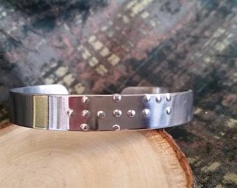 WWJD braille cuff