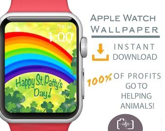 Apple Watch Wallpaper, St. Patrick's Day Apple Watch Face, Shamrock Apple Watch Background, St. Patrick's Day Apparel, Irish Apparel, Lucky