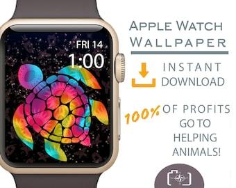 Apple Watch Wallpaper, Turtle Art Apple Watch Face, Tribal Turtle Apple Watch, Cover for Apple Watch Face, Dog Mom Gift, Dog Apparel