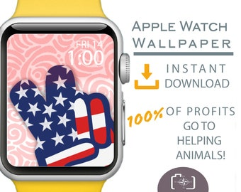 Apple Watch Wallpaper, Independence Day Apple Watch Face, July 4th Apple Watch Background, American Flag, Patriotic Apparel, Red White Blue