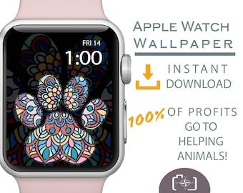 Apple Watch Wallpaper, Dog Mom Apple Watch Face, Watch Face for Apple Watch, Cover for Apple Watch Face, Dog Mom Gift, Mandala Design, Dog