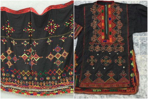 Tribal kohistan valley child dress and shawl