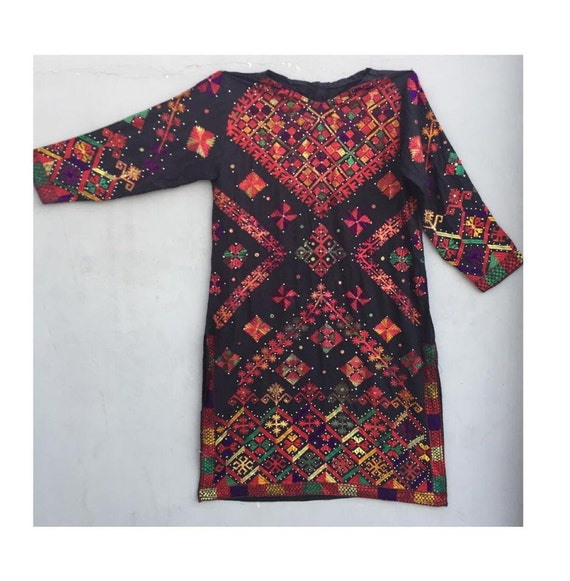 Antique embroidery tribal swat valley woman dress