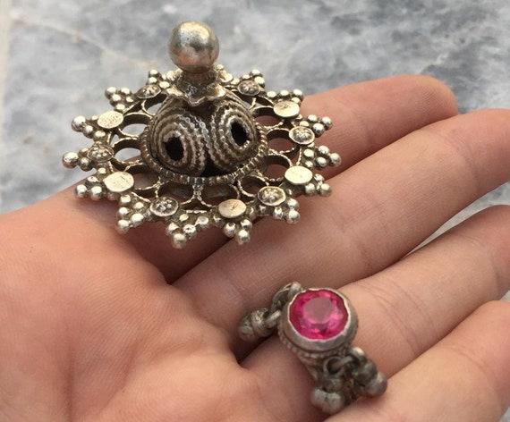 Tribal swat valley silver rings