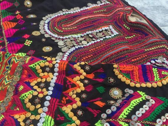 Nuristan valley tribal jumlo woman wedding dress