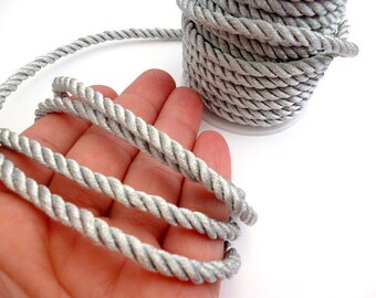 Silver Braided Silk cord_PP0015202347_Braided Cords_Silver_bobbin OF 5 meters _5/46 yards / 16 ft
