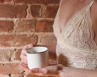 Cream Lace Bralette/Cream Longline Bralette/Cream Longline Libralette