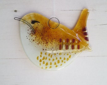 Wren Garden Bird Fused Glass, Spring Hanging, Sun Catcher Ornament, Home Decor, Twitchers British Bird Lovers Gift
