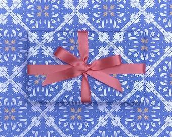 Blue Tile Gift Wrap