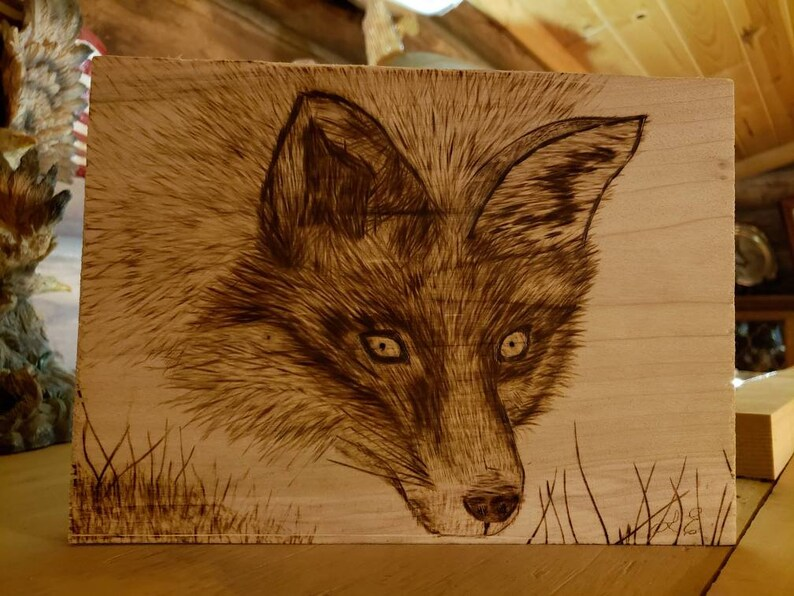 Fox Wood Burning, Wood Burning Art, Pyrography, Wood Burning Tool, Wood  Burning Pen, Wood Burning Art For Sale