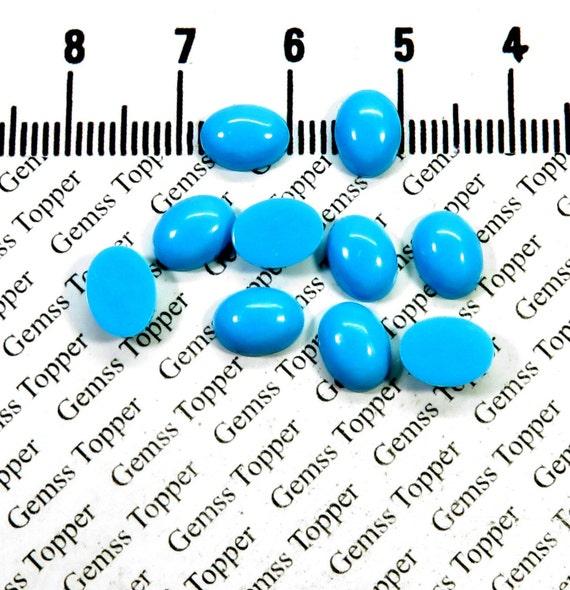 3x5mm Sleeping Beauty Oval Turquoise