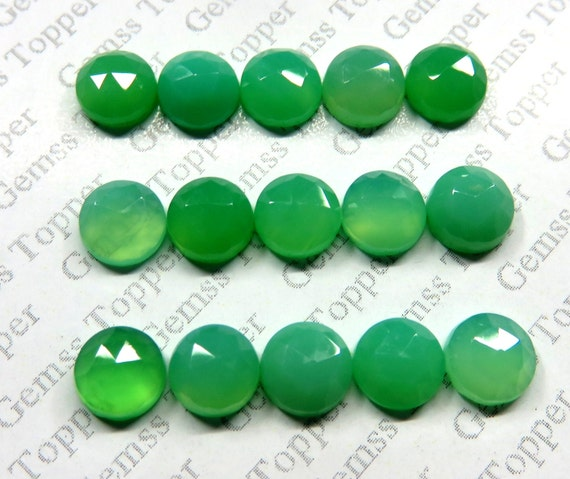 5mm Round Shape Natural Chrysoprase Cabochons Loose Gemstone Lot 5x5mm
